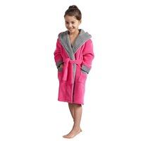 Детски халат Find ENVIE 183763525-AZ2198, С качулка, С коланче, За момичета, Розов/Сив, 146/152 cm