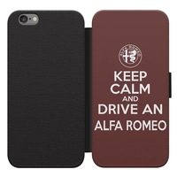 Keep calm and drive Alfa Romeo Samsung Galaxy S10 Edge kinyitható flip tok flipes tok telefontok