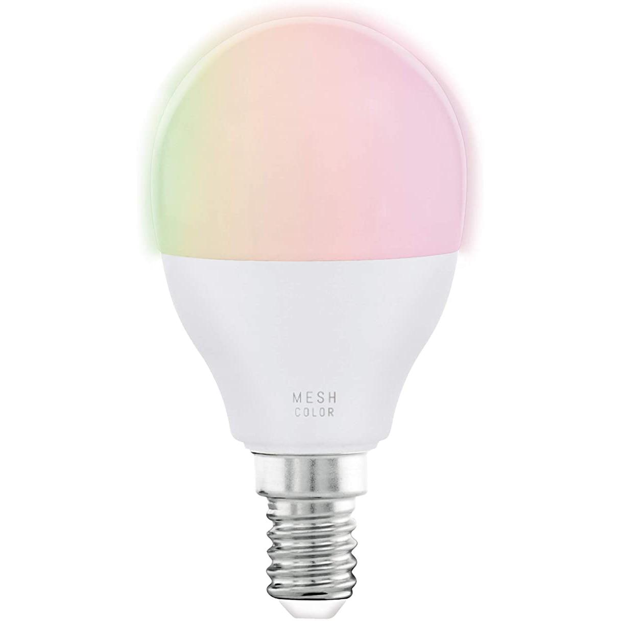 Fotografie Bec LED RGBW inteligent Eglo Connect 11857, Wi-Fi, P45, E14, 5W, 470 lm, A+, lumina alba si colorata, compatibil Amazon Echo si Google Home