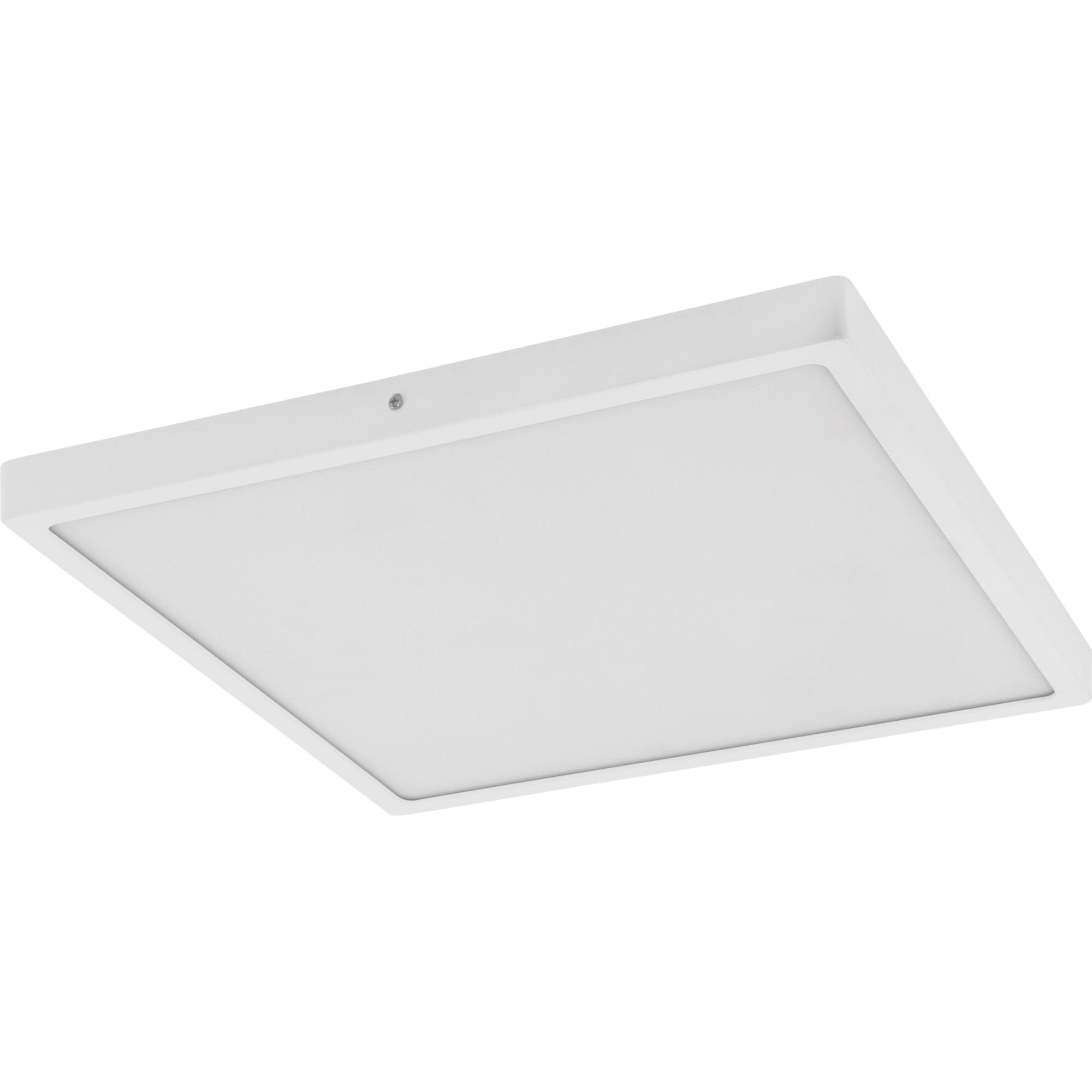 Fotografie Plafoniera LED integrat Eglo Fueva 1 97268, 25W, 2500 lm, A++, lumina neutra (4000K), 40x40 cm, Aluminiu, Alb