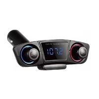 Bluetooth vezeték nélküli FM transzmitter és kihangosító - AUX, TF, USB bemenet - LED kijelzővel M20