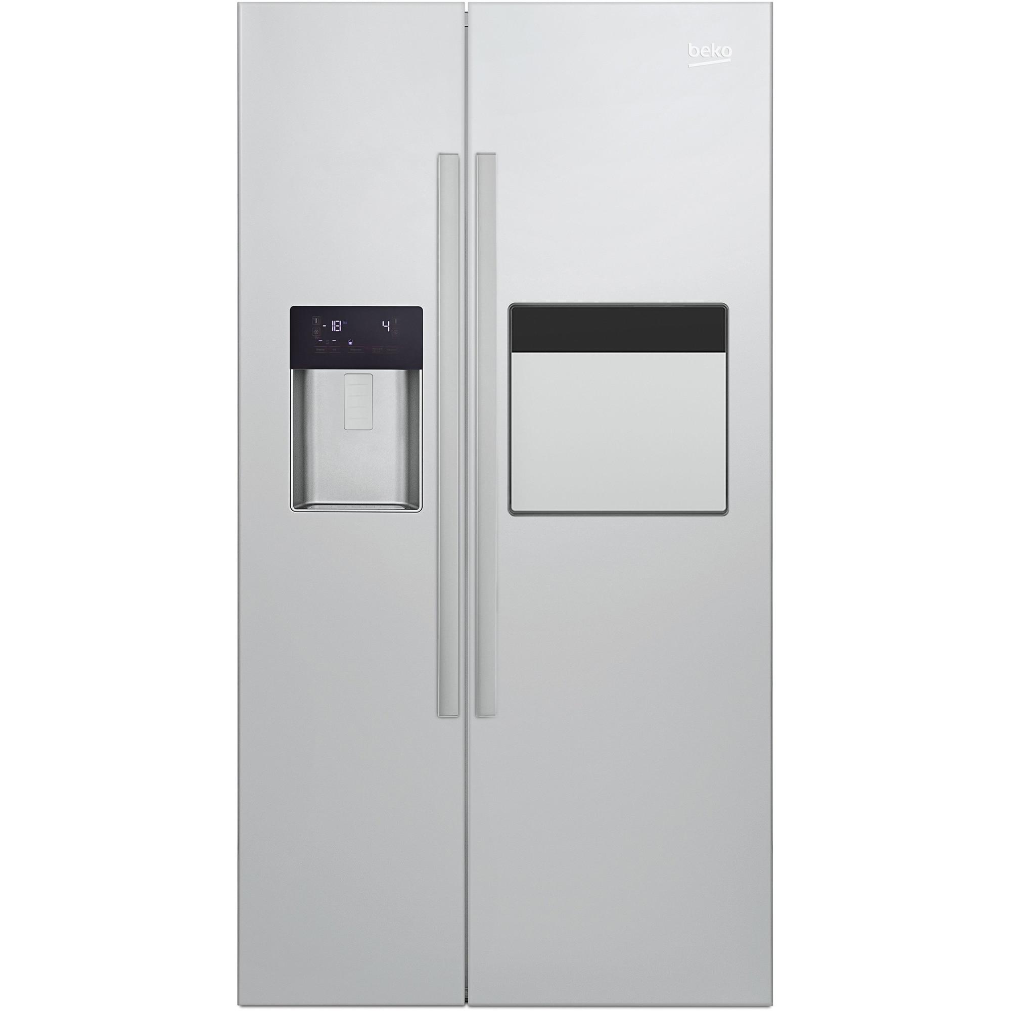 Fotografie Side by side Beko GN162431ZX, 544 l, Clasa A++, NeoFrost™ dual cooling, H 179 cm, Inox antiamprenta