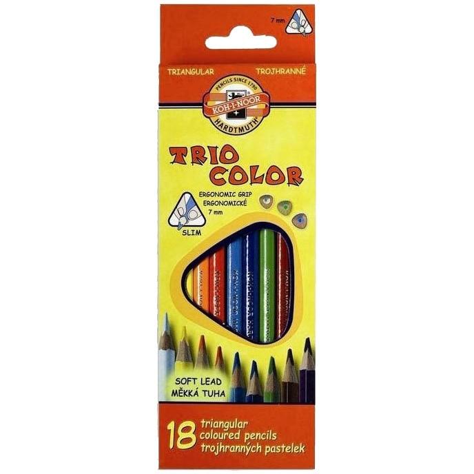 Fotografie Set creioane Koh-I-Noor Triocolor, 18 culori