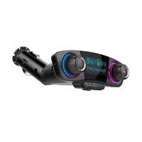 Bluetooth vezeték nélküli FM transzmitter és kihangosító - AUX, TF, USB bemenet - LED kijelzővel gen.2 BT06