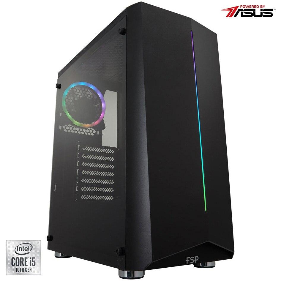 Fotografie Sistem Desktop PC Gaming Serioux Powered by ASUS cu procesor Intel® Core™ i5-10400F pana la 4.30GHz, 16GB DDR4, 500GB SSD, GeForce® GTX 1650 4GB GDDR6, No OS
