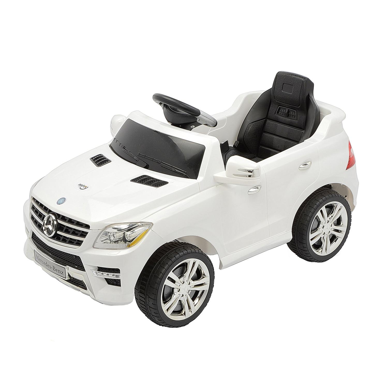 Fotografie Masinuta electrica cu telecomanda pentru copii, Mappy, Mercedes Benz ML350, Alb