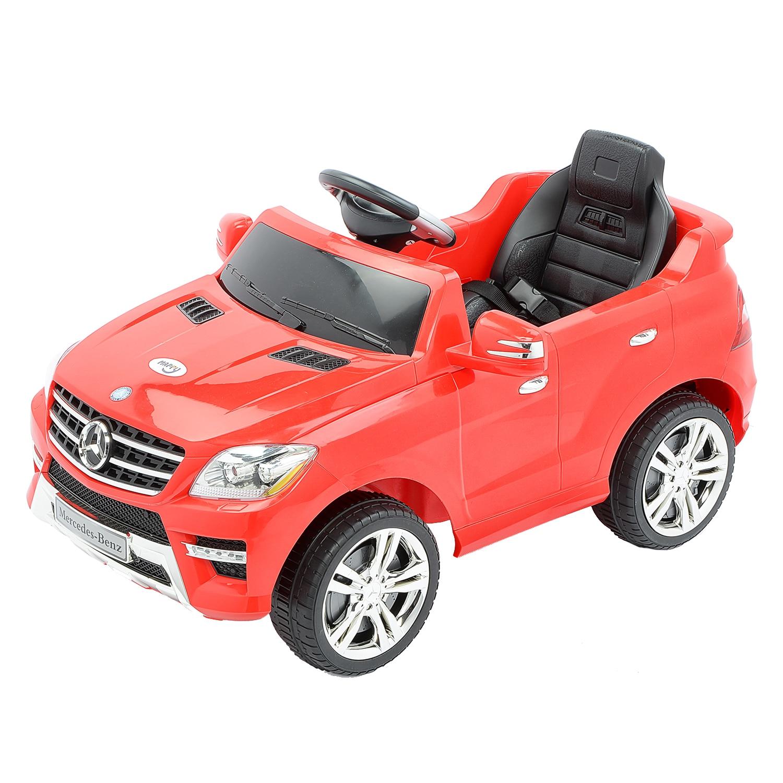 Fotografie Masinuta electrica cu telecomanda pentru copii, Mappy, Mercedes Benz ML350, Rosu