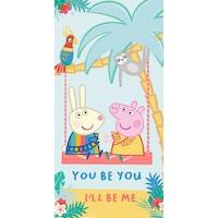 Плажна хавлия Peppa Pig Summer, Многоцветен, 70х140