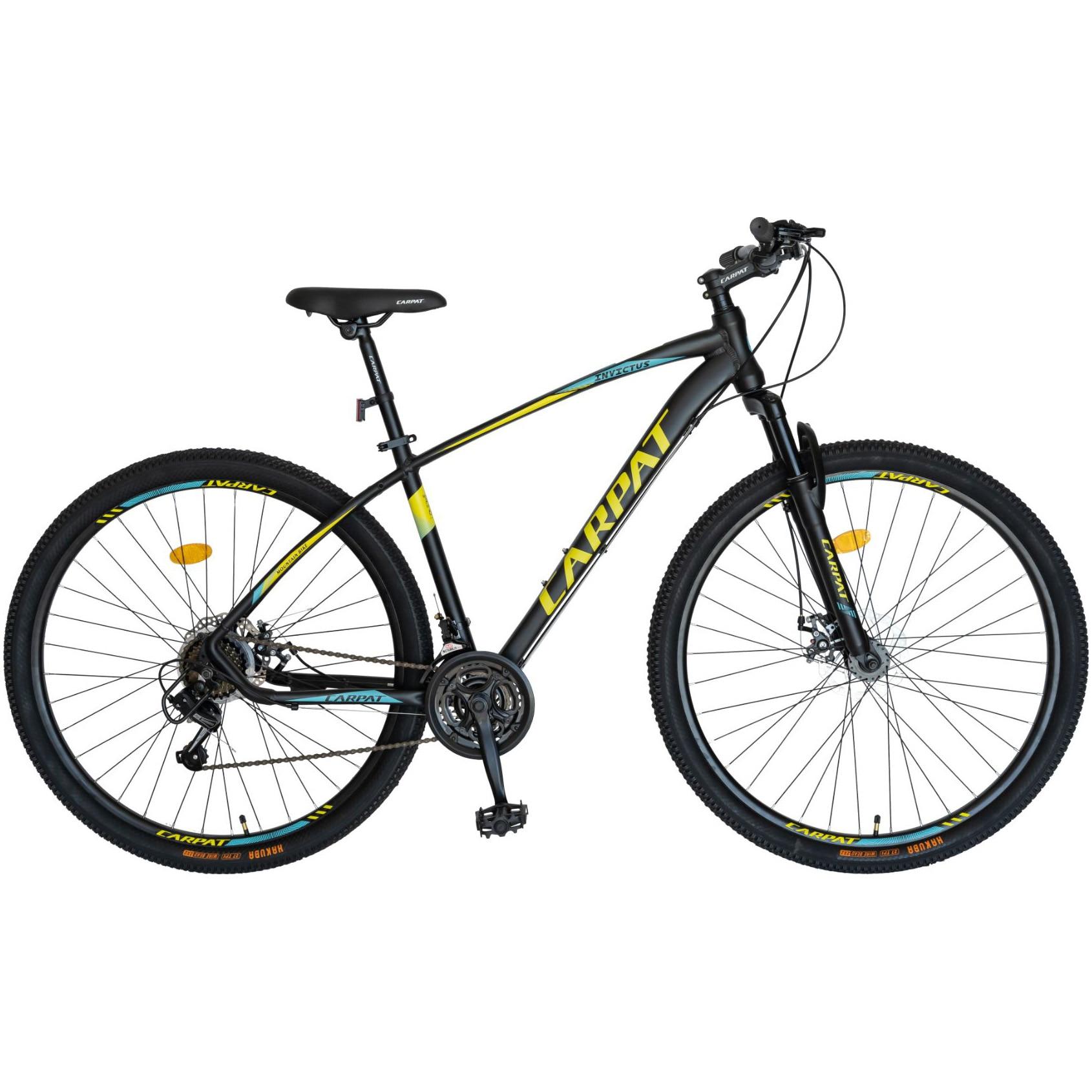 Fotografie Bicicleta Carpat MTB-HT 29-er C2957C Negru/GAlben