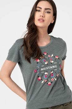 Mustang, Alexia mintás pamutpóló, Olajkék