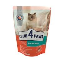 Суха храна за стерилизирани Котки Club4Paws, Sterilised Cat, 0.3кг