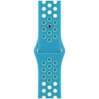 Каишка за Apple Watch 40 мм, Nike Sport Band, Regular, Chlorine Blue/Green Glow