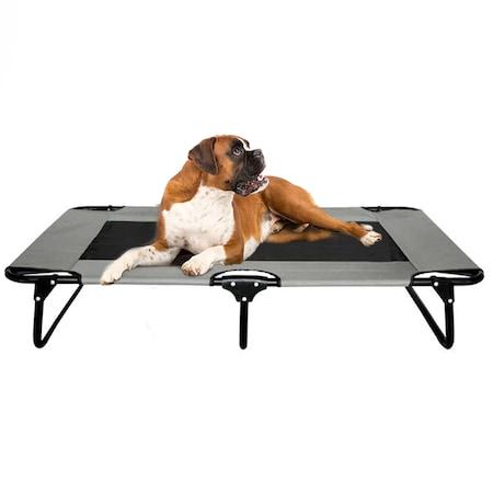 Походно легло за кучета и котки, Сгъваемо, Дишаща водоустойчива материя, Сиво, 106 x 60 x 20 cm