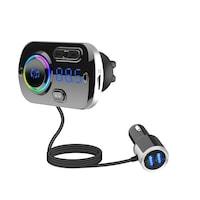 BC49BQ Bluetooth Autós MP3 Lejátszó Fm Transzmitter LED Kijelzővel 2 Telefonos