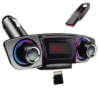 M20 Bluetooth Vezeték Nélküli FM Transzmitter És Kihangosító - AUX, TF, USB Bemenet - LED Kijelzővel