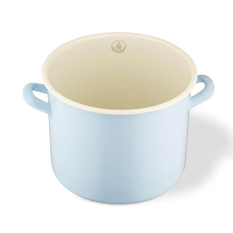 Fotografie Oala Email de Sighisoara, 8 L, Ø23 cm x 19.7 cm, Albastru pastel