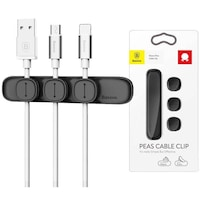 Mагнитен органайзер за кабели Baseus Peas Magnetic Cable Clip Holder, черен