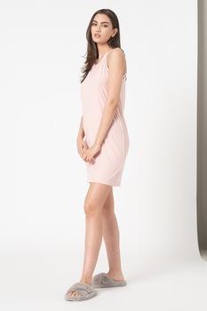 ESPRIT Bodywear, Bordázott hatású hálóing, Rózsaszín