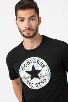 Converse, Kerek nyakú logós póló, Fekete/fehér/zöld