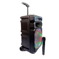 Kimiso - Hordozható bluetooth karaoke hangfal, 12 col, mikrofonnal, távirányítóval, digitális kijelzővel
