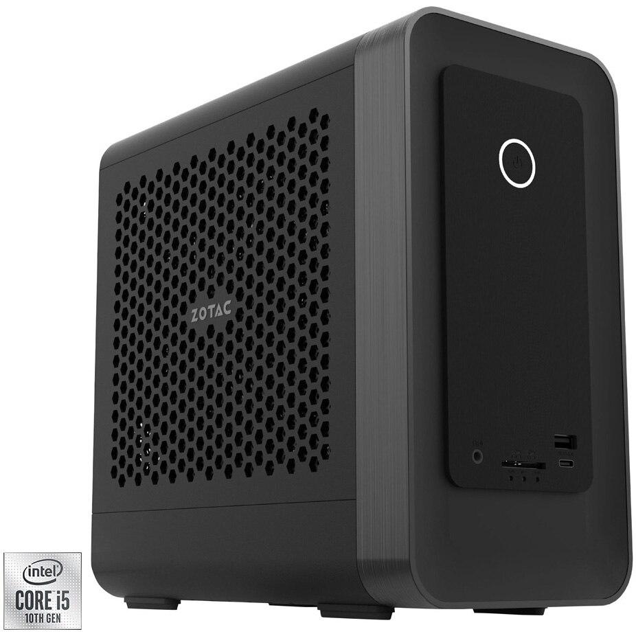 Fotografie Mini PC Gaming Barebone Zotac Zbox cu procesor Intel® Core™ i5-10400 pana la 4.30GHz, fara RAM, fara stocare, Wi-Fi, NVIDIA® GeForce RTX™ 3060 12GB GDDR6, No OS