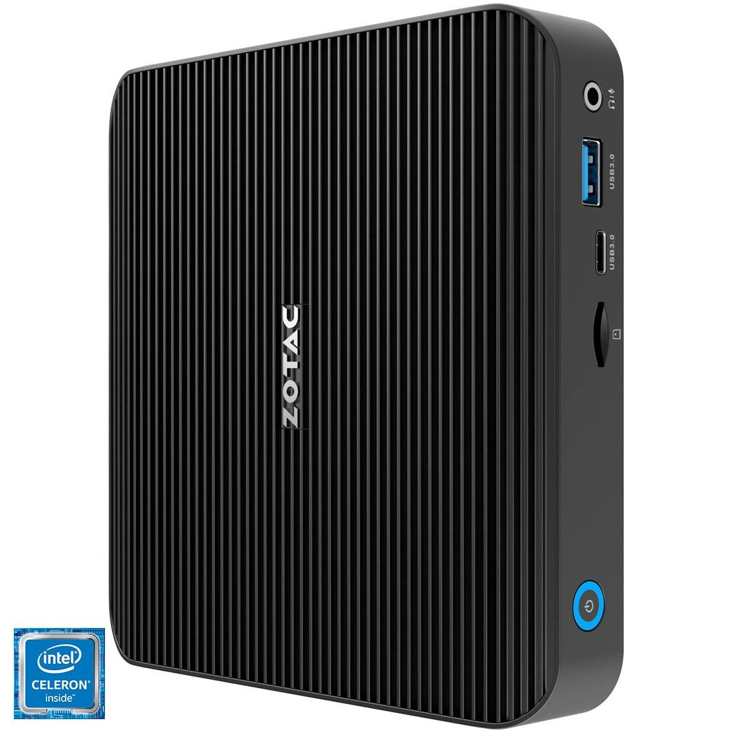 Fotografie Mini PC Barebone Zotac Zbox cu procesor Intel® Celeron® N4100 pana la 2.40GHz, fara RAM, fara stocare, Wi-Fi, Intel® UHD Graphics 600, No OS