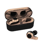 Casti Bluetooth 5.2 Wireless Gaming Earbuds - Transparency Mode with Noise Cancellation 4 Microphones Technology- 8 Hr Playtime, 80 ms Low Latency, Qualcomm aptX Audio, ENC, IPX5 Patented Touch and Push Button , Bronze
