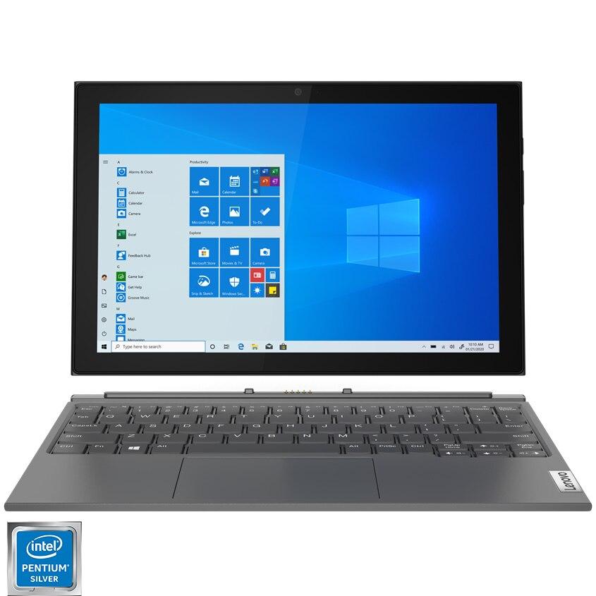 "Fotografie Laptop 2 in 1 Lenovo IdeaPad Duet 3 10IGL5 cu procesor Intel Pentium Silver N5030 pana la 3.10 GHz, 10.3"", WUXGA, Touch, 8GB, 128GB eMMC, Intel UHD Graphics 605, Windows 10 Home S, Graphite Grey"