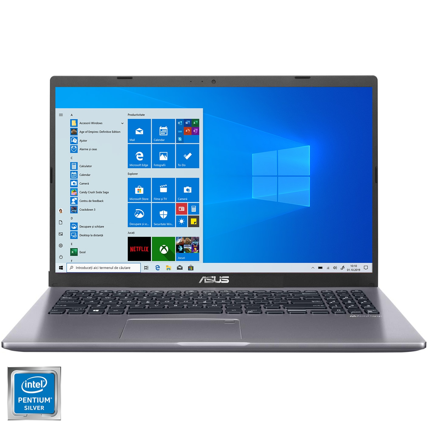 "Fotografie Laptop ASUS X509MA cu procesor Intel® Pentium® Silver N5030, 15.6"", HD, 4GB, 1TB HDD, Intel® UHD Graphics 605, Windows 10 Home, Slate Grey"