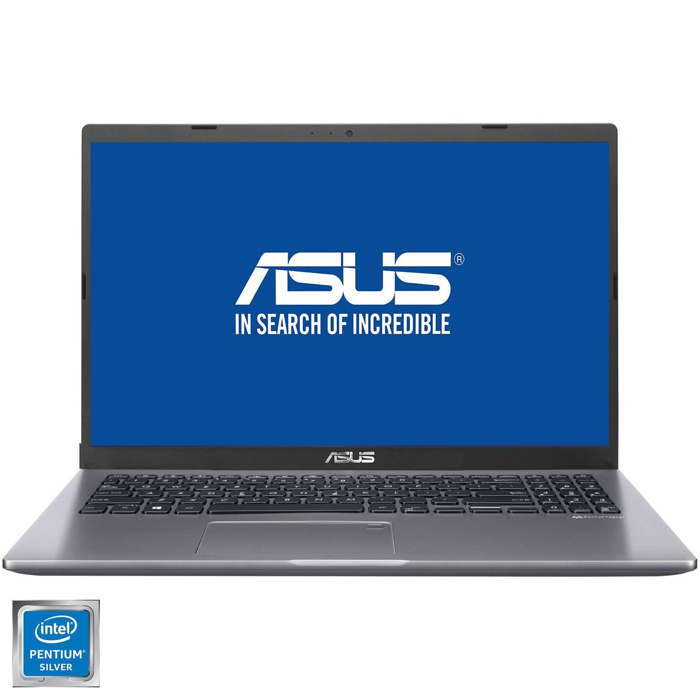 "Fotografie Laptop ASUS X509MA cu procesor Intel® Pentium® Silver N5030, 15.6"", HD, 4GB, 1TB HDD, Intel® UHD Graphics 605, Free DOS, Slate Grey"