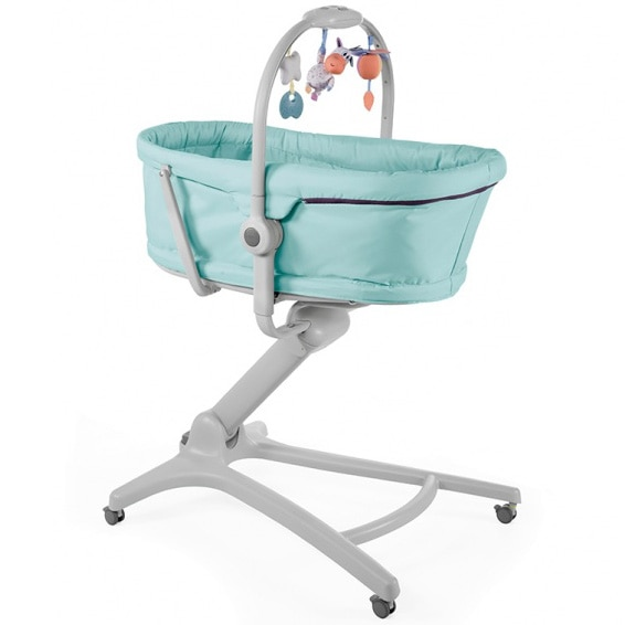 Fotografie Cosulet multifunctional 4 in 1 Chicco Baby Hug Aquarelle, de la nastere, Albastru/Gri