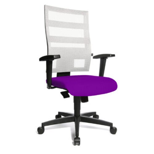 Fotografie Scaun de birou TopStar X-Pander, manere reglabile, alb-violet
