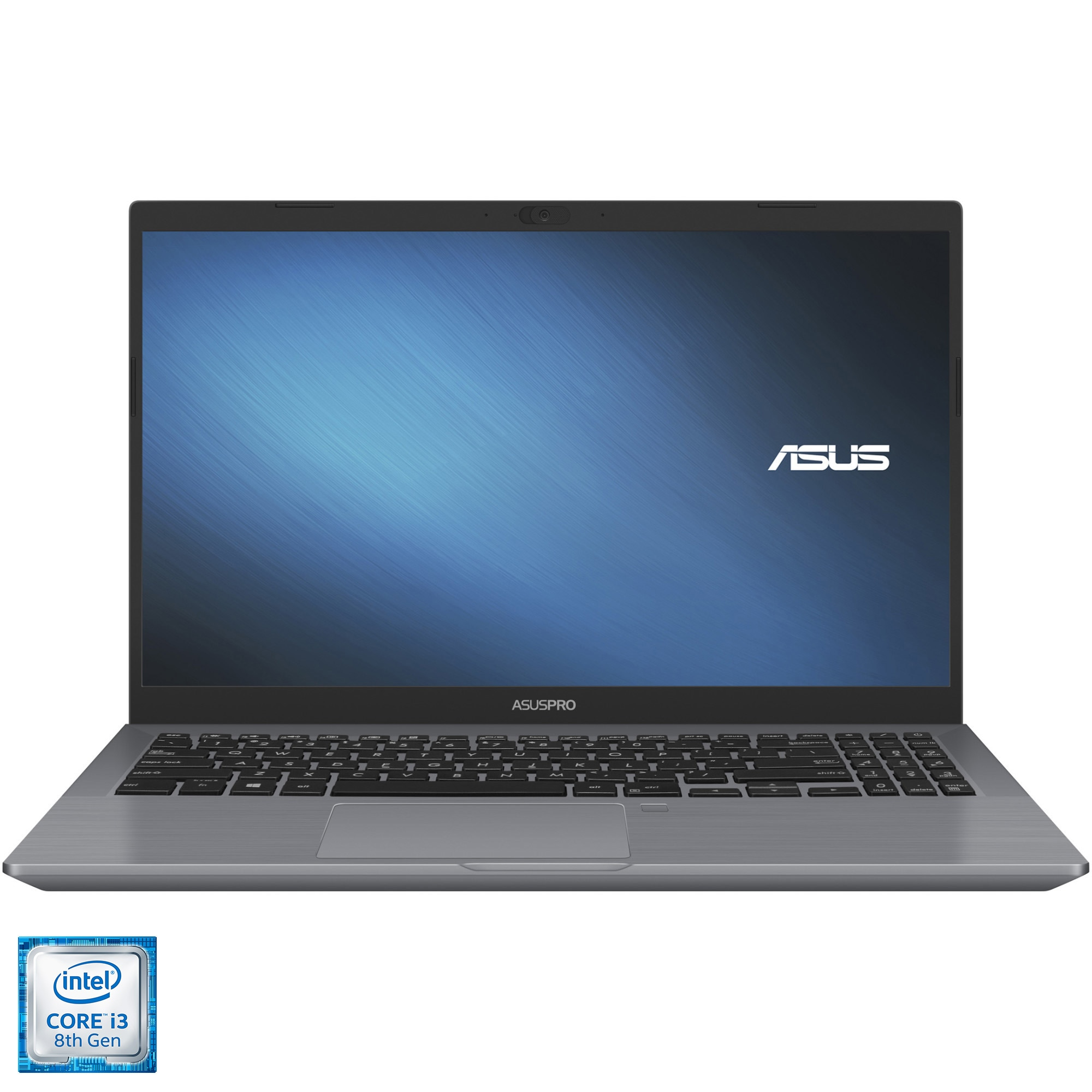 "Fotografie Laptop ASUS ExpertBook P3540FA cu procesor Intel Core i3-8145U, 15.6"", HD, 8GB, 256GB SSD, Intel® UHD Graphics, Endless OS, Grey"