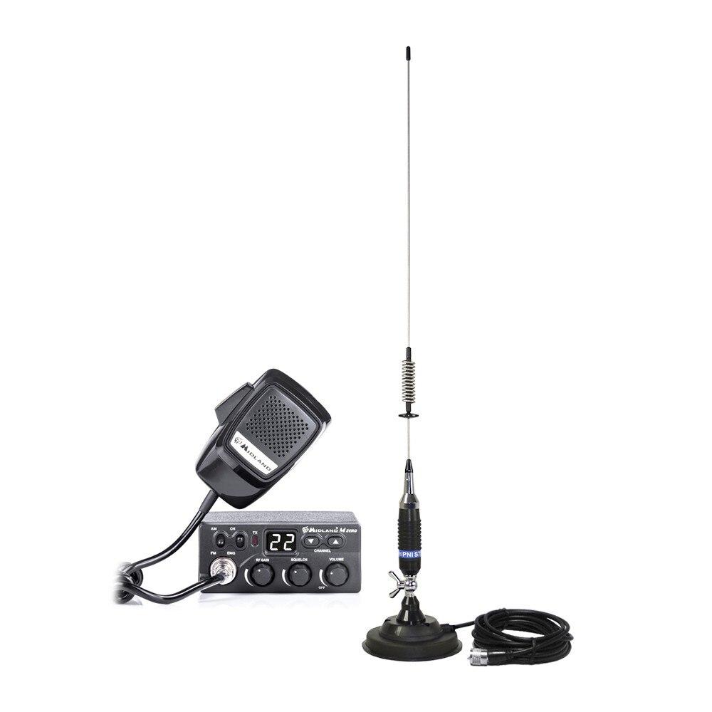 Fotografie Kit Statie radio CB Midland M Zero Plus + Antena PNI S75 cu magnet