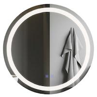 Tükör, kerek, 70 x 70 cm, világítás, páramentesítő funkció, Led Touch, Smack, J05
