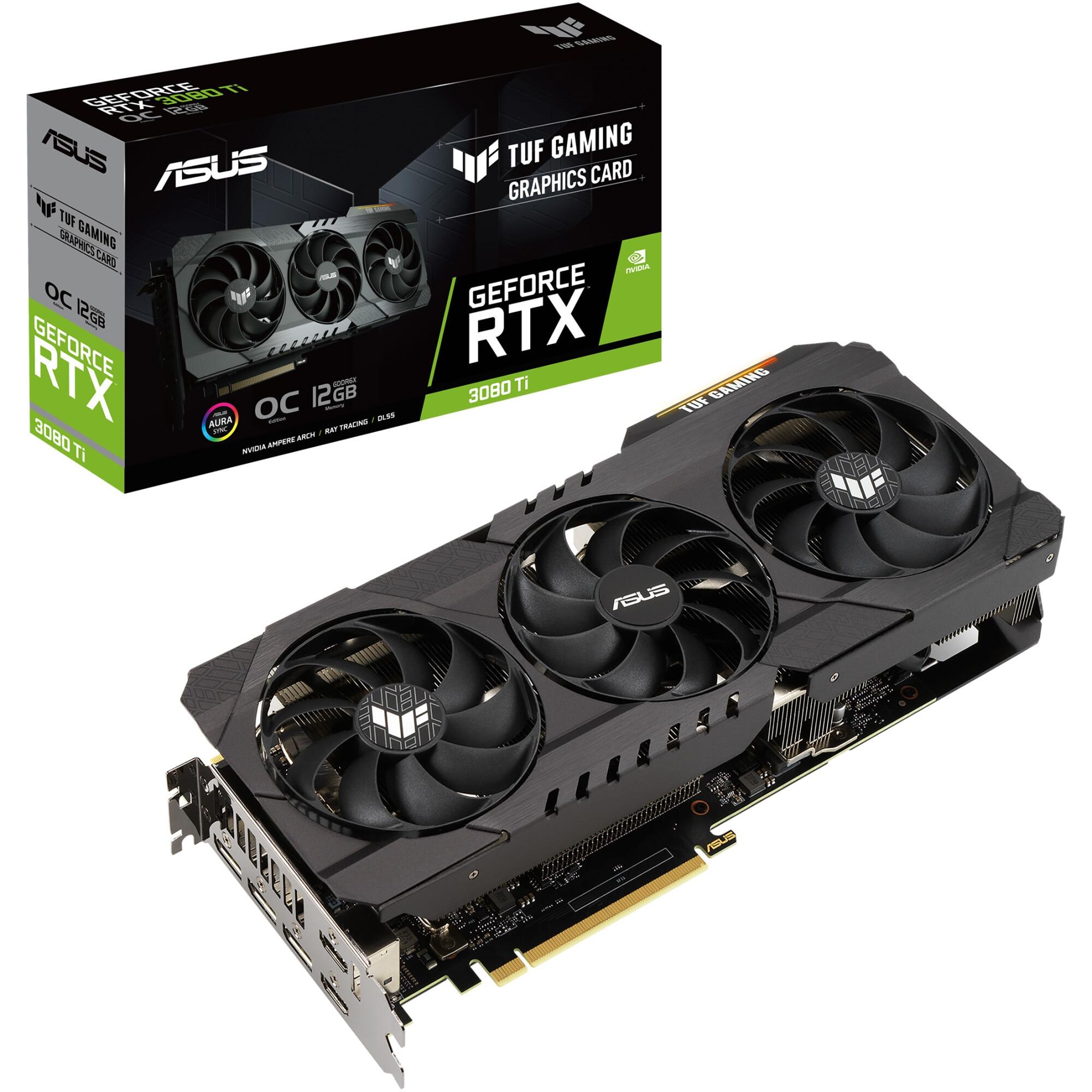 Fotografie Placa video ASUS TUF GAMING GeForce® RTX™ 3080 Ti OC, 12GB GDDR6X, 384-bit
