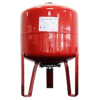 Термичен разширителен съд Fornello, 35 литра, Вертикален, С крака, Червен, Максимално налягане 10 бара, Мембрана EPDM
