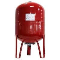 Термичен разширителен съд Fornello, 80 литра, Вертикален, С крака, Червен, Максимално налягане 10 бара, Мембрана EPDM