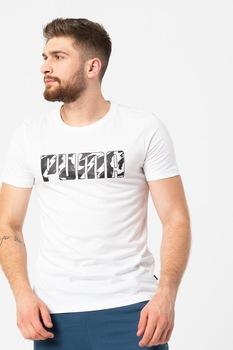 Puma, Ka kerek nyakú logómintás póló, Fehér/Fekete