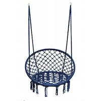 Люлка тип стол Palmonix, Кръгла, За вкъщи, двор или градина, Капацитет 150 кг, Син