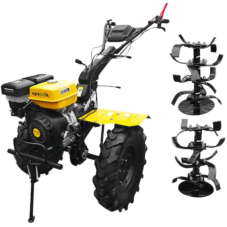Motocultor AgroPro Progarden HS 1100D motor 16 CP, 3 viteze de mers, senzor de ulei, pornire rapida, freze, roti cauciuc