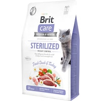 Суха храна за котки Brit Care GF, Sterilized Weight Control, 2 кг