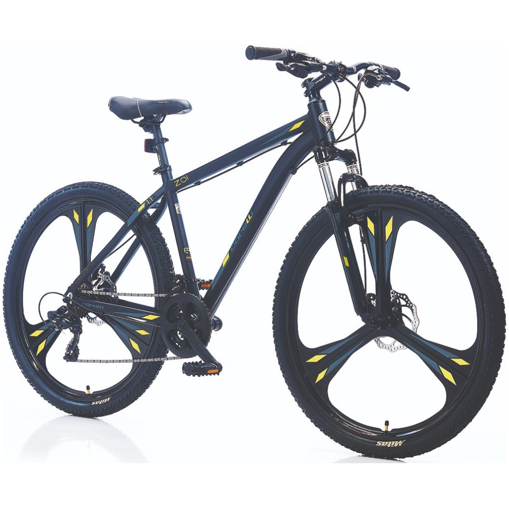"Fotografie Bicicleta MTB 27.5"" ZOI 1.1, marime cadru L, negru-galben"