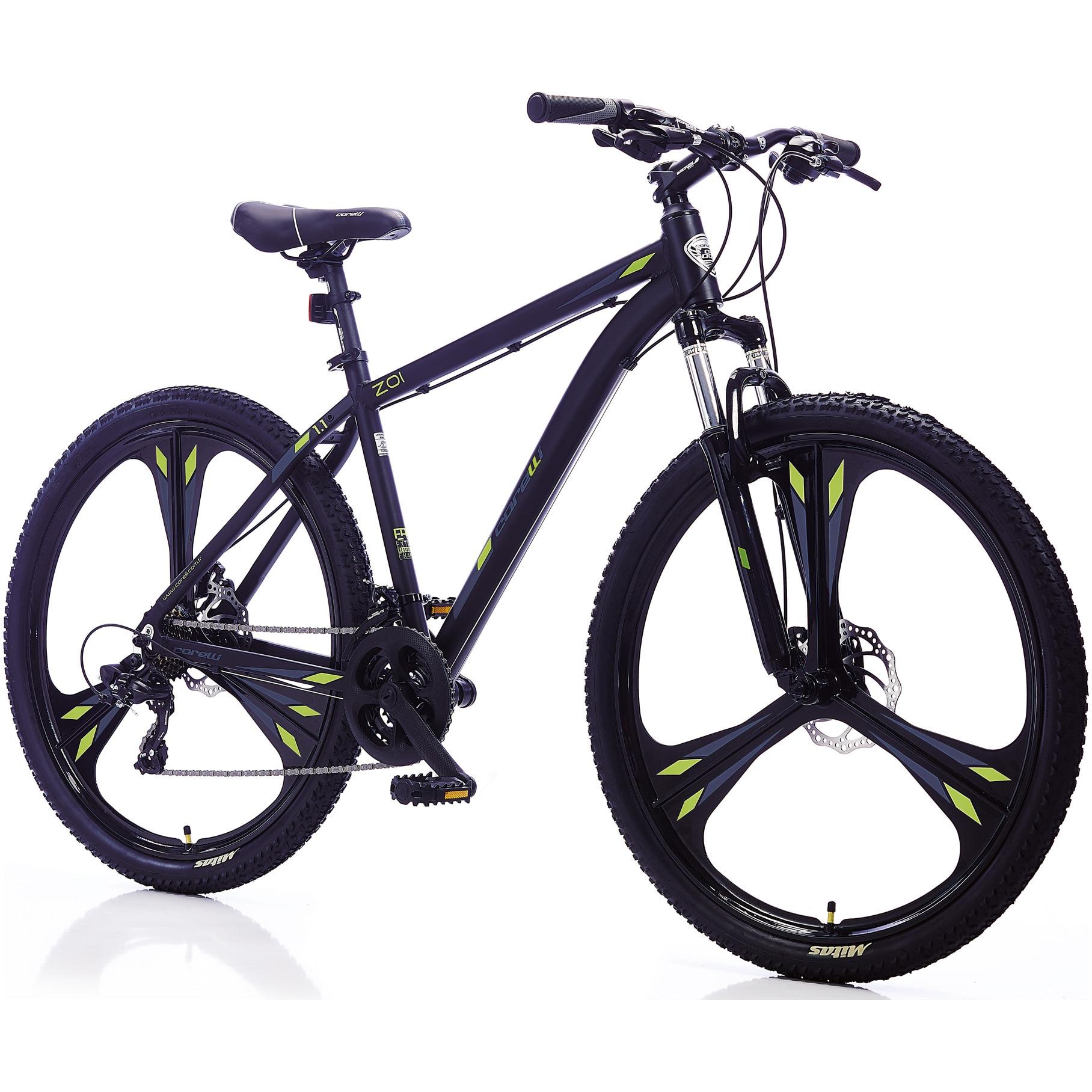 "Fotografie Bicicleta MTB 27.5"" ZOI 1.1, marime cadru L, negru-verde"