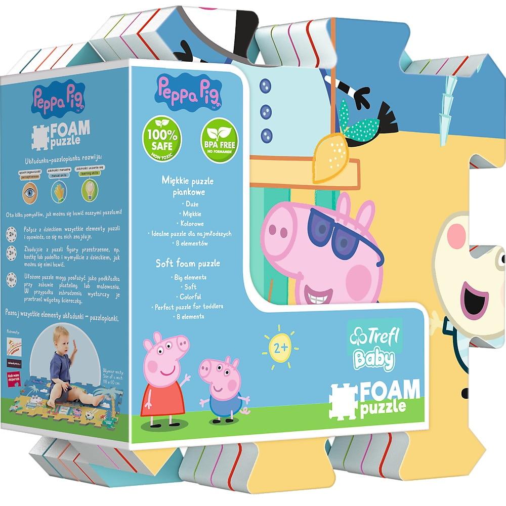 Fotografie Puzzle spuma Trefl Baby - Peppa Pig Summer, 8 piese