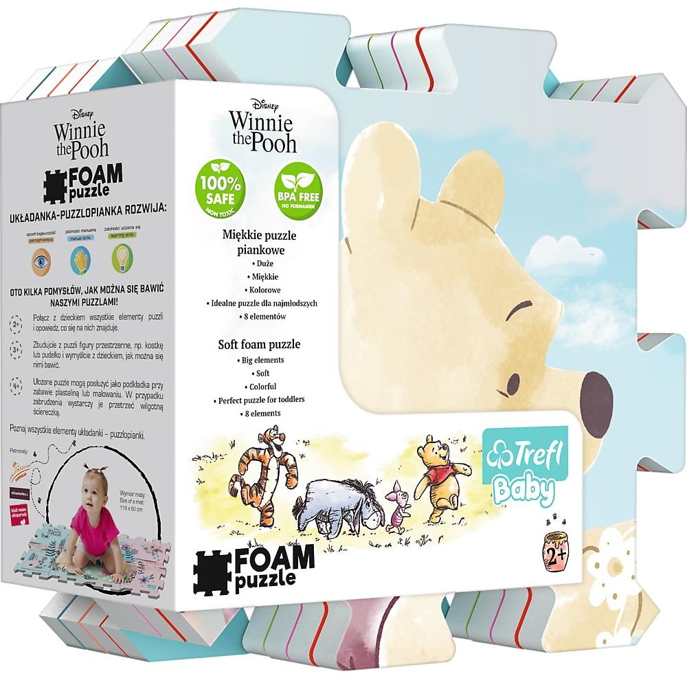 Fotografie Puzzle spuma Trefl Baby - Winnie The Pooh, 8 piese