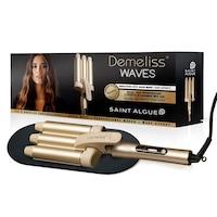 Ретро преса за коса Demeliss Waves, LCD дисплей, 10 нива на температура, Златен