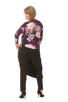 Pantaloni casual Noemi, FeelFree Fashion FFF, P026, negru, 50-52