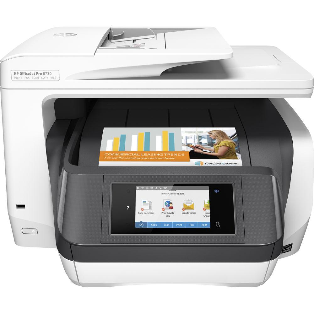 Fotografie Multifunctional Inkjet HP Officejet Pro 8730 All-in-One, Wireless, A4
