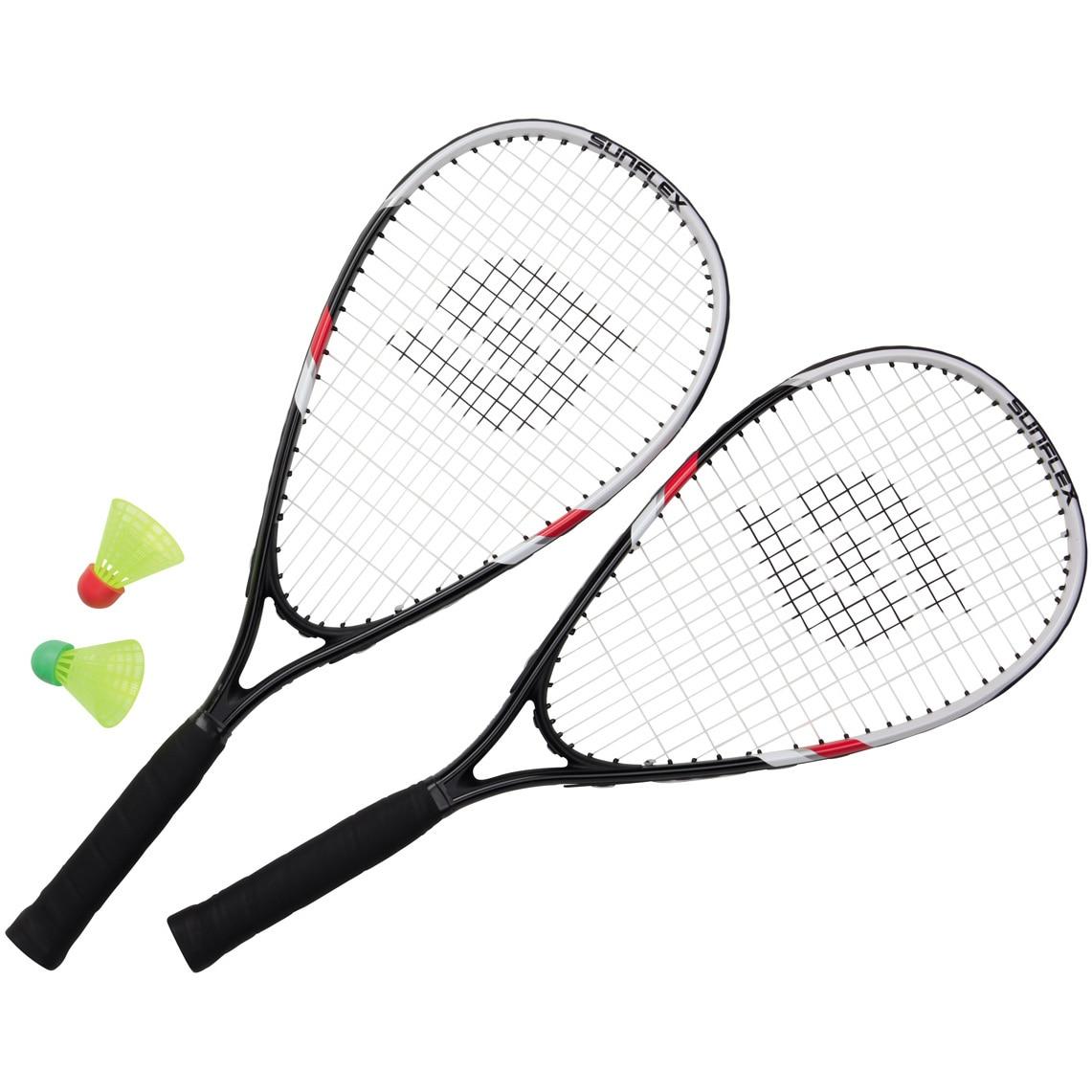 Fotografie Set speed badminton SONIC II, 2 rachete, 2 fluturasi, husa